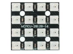WS2812 - 4x4 címezhető LED mátrix