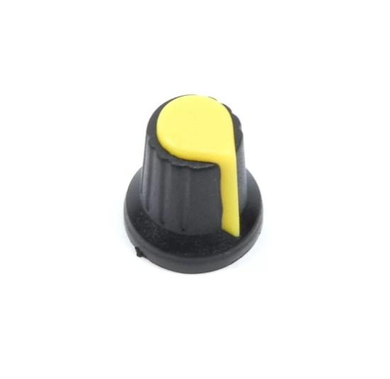 Műanyag Potméter Gomb - Sárga