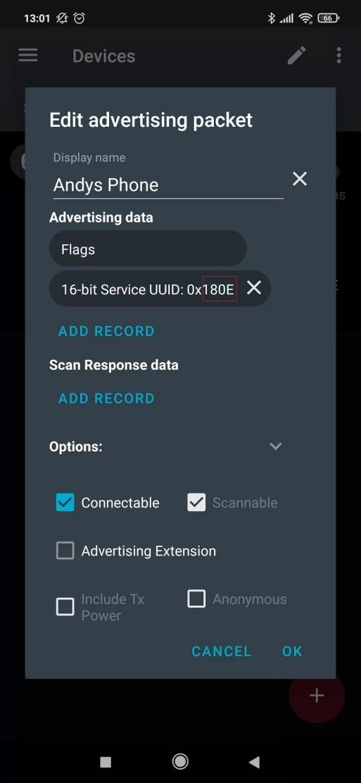 ESP32 BLE Tracker készítés - Advertising packet