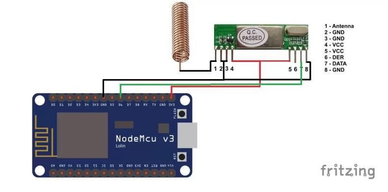 NodeMcu 433Mhz Snifferr - RXB6