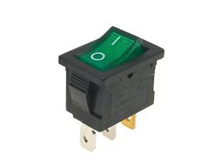 2 állású világító kapcsoló - Zöld