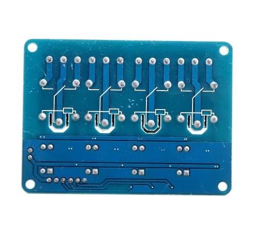 Relé modul - 4 csatornás