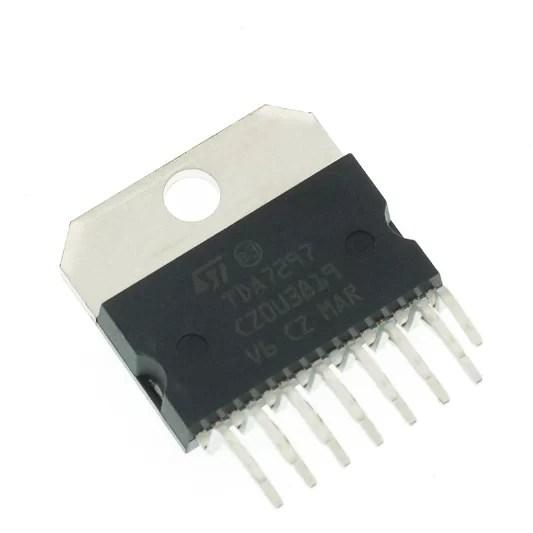 TDA7297 - D osztályú erősítő - építő készlet
