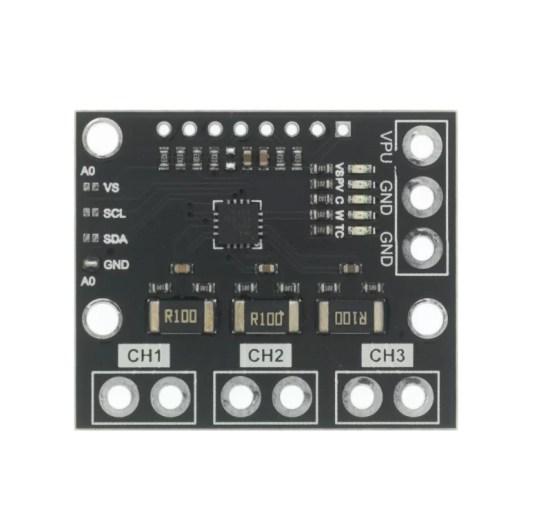 INA3221 - 3 csatornás áramerősség mérő modul