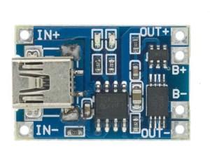 TP4056 Li-Ion akkumulátor töltő - 1A - Mini USB