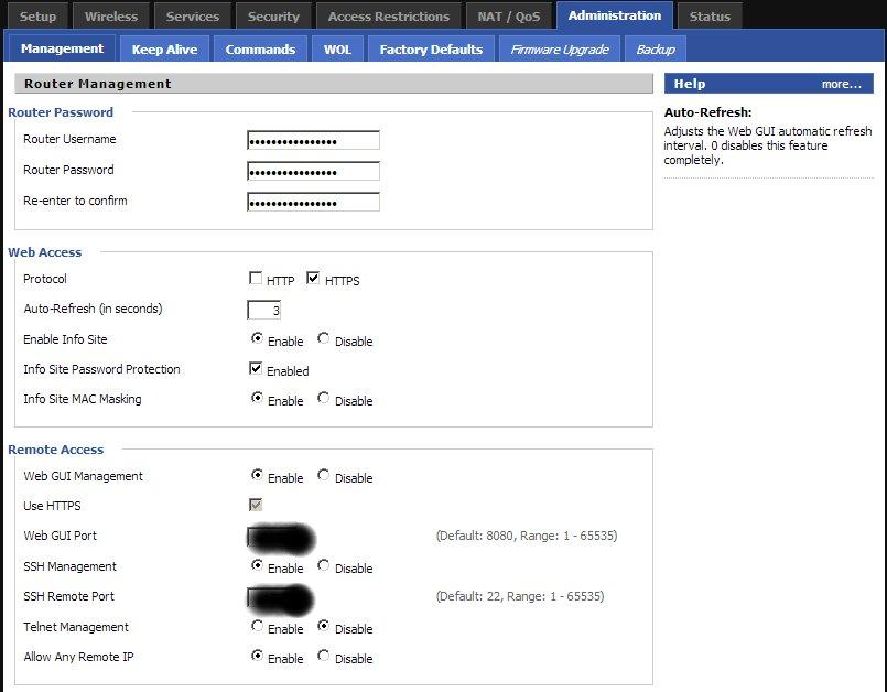 DD-WRT SSH Setup / Configuration