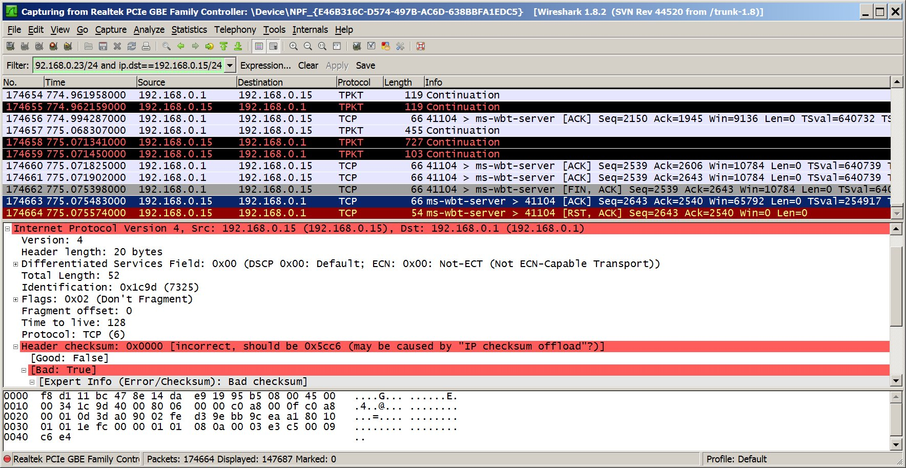 WireShark Error