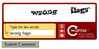 reCAPTCHA Posting Verification