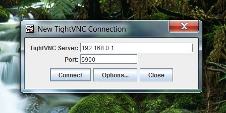 TightVNC Login Connection Screen