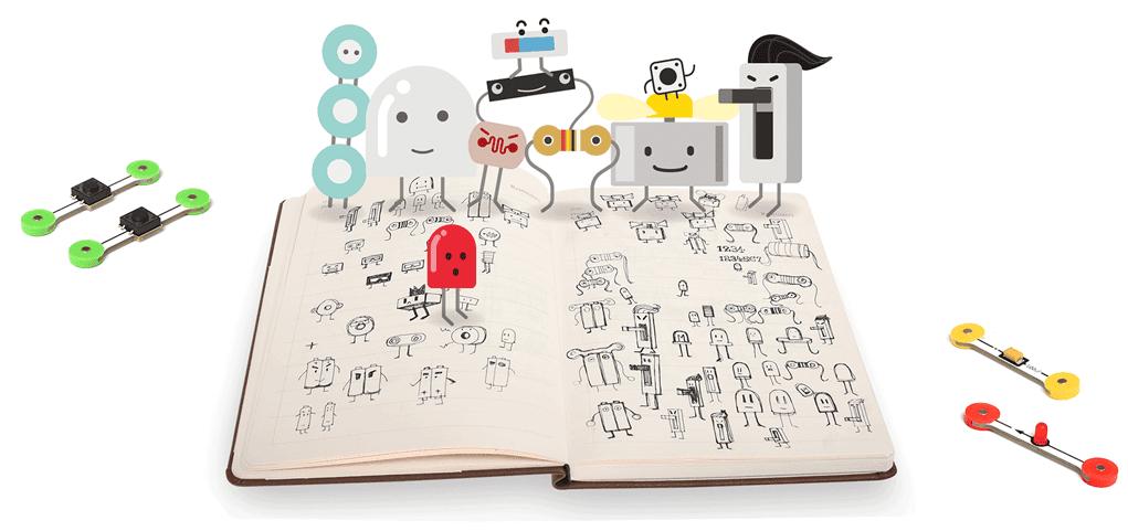 microduino mPuzzle characters in storybook - Microduino