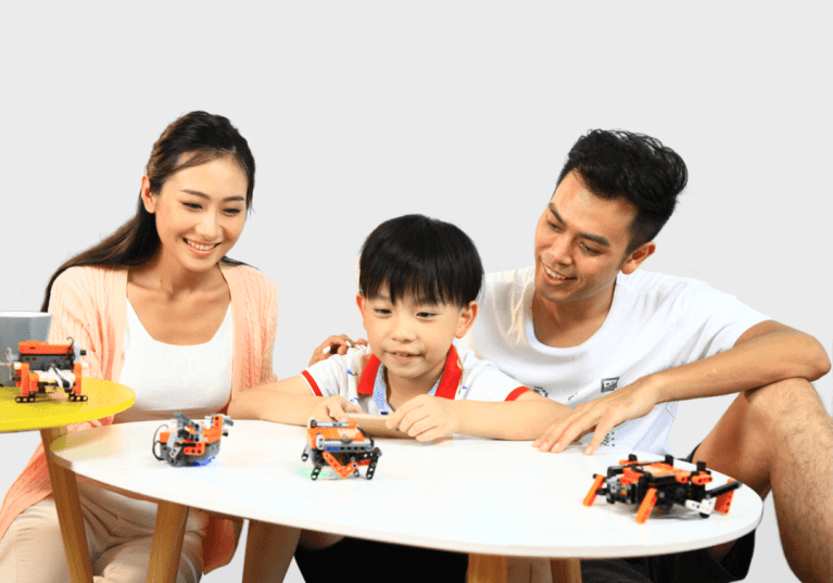 family playing with Itty Bitty Buggy