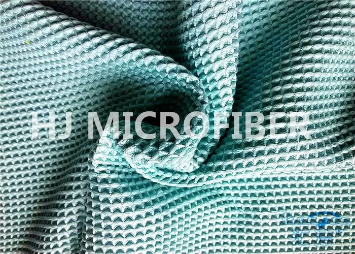 Turquoise Blue Microfiber Waffle Cloth Polyester