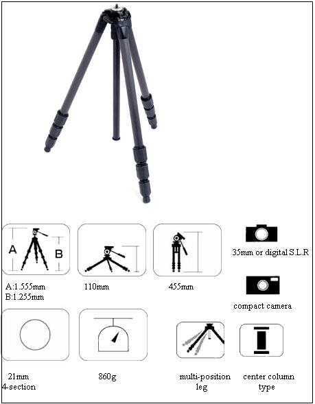 Slik 614 Carbon Fiber Tripod Legs Microglobe London UK