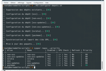 Dépôts de paquets OpenSUSE Leap