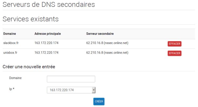 DNS Secondaire Online