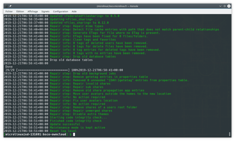 OwnCloud 10.3