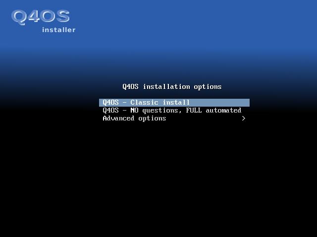 Q4OS Installation