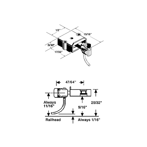 Kadee No. 743 O Scale Metal Coupler with Plastic Gearbox