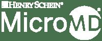 Henry Schein MicroMD white logo
