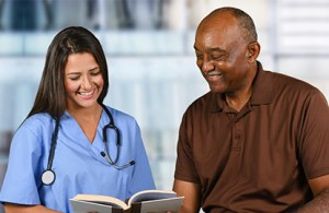 a primary care doctor interacting with a patient