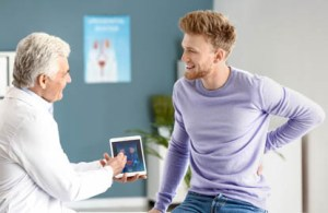 A patient and a doctor making shared decisions to represent consumerism in healthcare