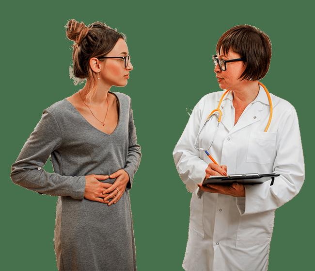 gastroenterologist with patient