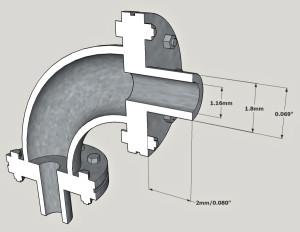 90degElbow_6in_flanged_Oscale_section