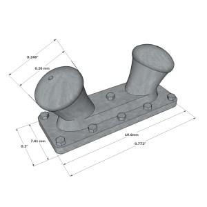 Double-Deck Bitt 19,6 mm