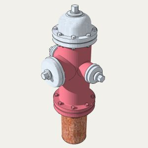 1:24 Fire Hydrant Model 1962 Ver 3