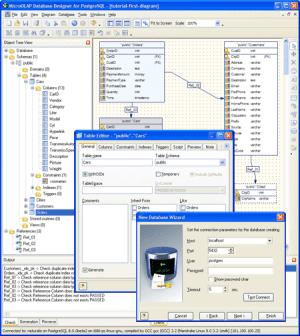 Microolap Database Designer for PostgreSQL: GUI tool for visual database generation