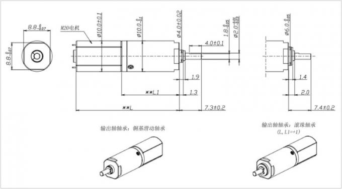 Low Noise High Torque 10mm Micro DC Motor Gearbox for Auto