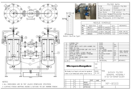 small resolution of duplex polish filter for edible oil