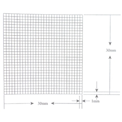 KR452 Grid Reticle 300 Squares 30mm x 30mm