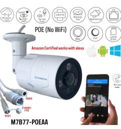 microseven open source 1080p 30fps sony cmos hd poe outdoor camera amazon certified works [ 2000 x 2000 Pixel ]