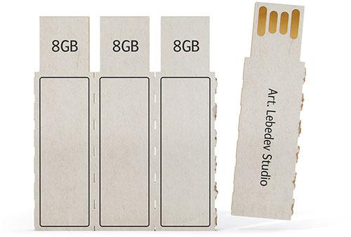 Pincho USB en cartón por Art Lebedev