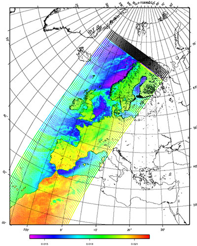 Primeros datos MHS - Eumetsat