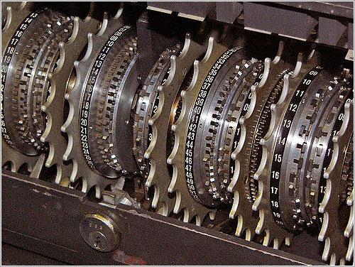 Ruedas de una máquina Lorenz