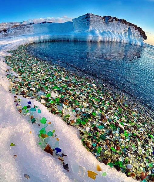 Playa vidrios rotos
