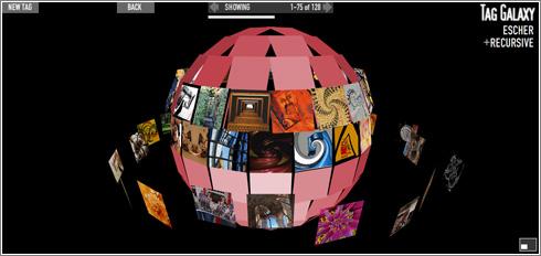 montando un planeta de fotos sobre un tag