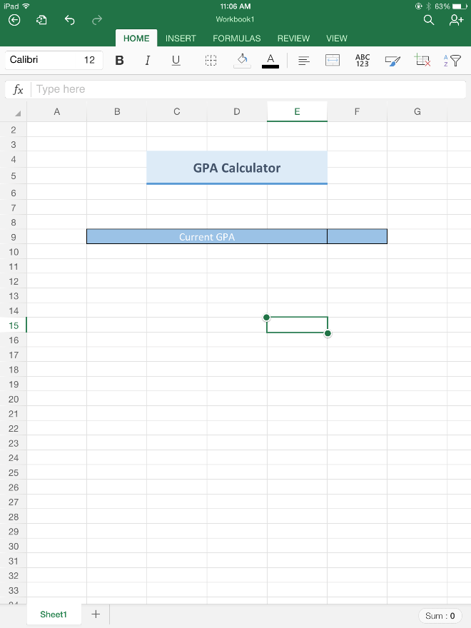 gpa calculator excel - Kleo.beachfix.co