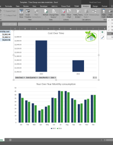 Pivotchart drill down buttons also time grouping enhancements in excel microsoft blog rh