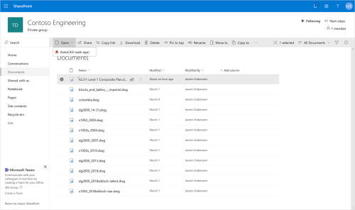 small resolution of screenshot of the autocad web app opening in sharepoint