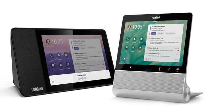 An image of PCs with Microsoft Teams desplays.