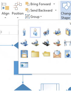 Change shape also create professional diagrams quickly with the new visio microsoft rh