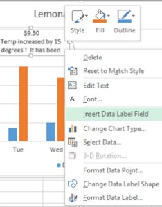 When  click insert data label field excel opens  dialog that gives me few options to choose from want pull in value is also adding rich labels charts microsoft blog rh