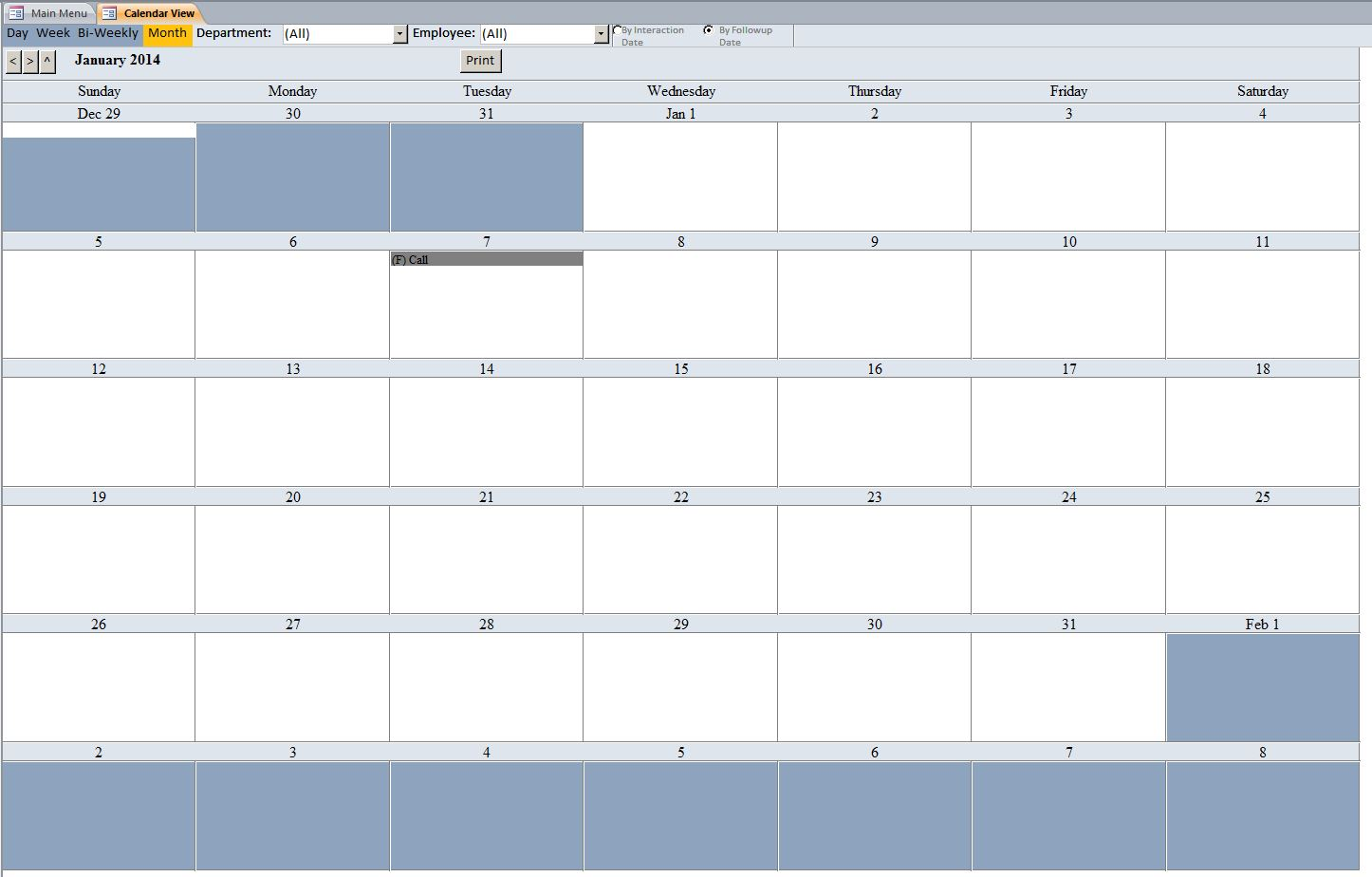 Daily call log to jot down phone messages. Call Log Interaction Tracking Template Tracking Database