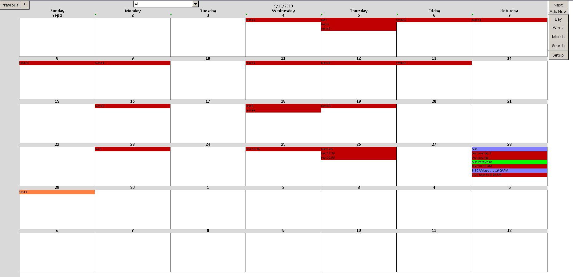 Enhanced Microsoft Excel Calendar Scheduling Database Template