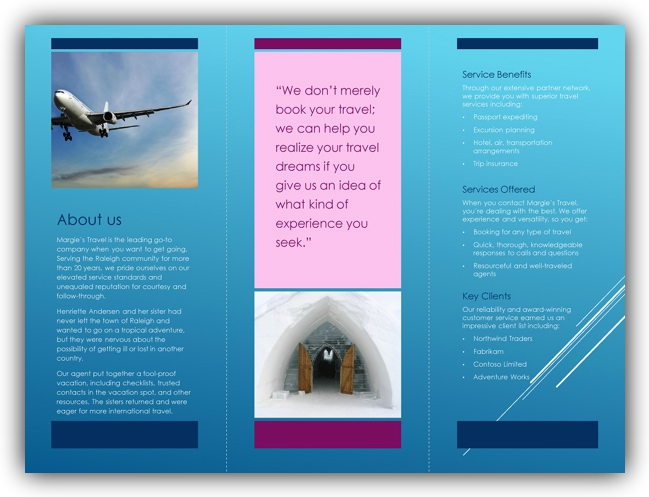 open office brochure templates