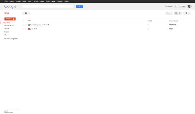 Google's Drive Desktop Interface