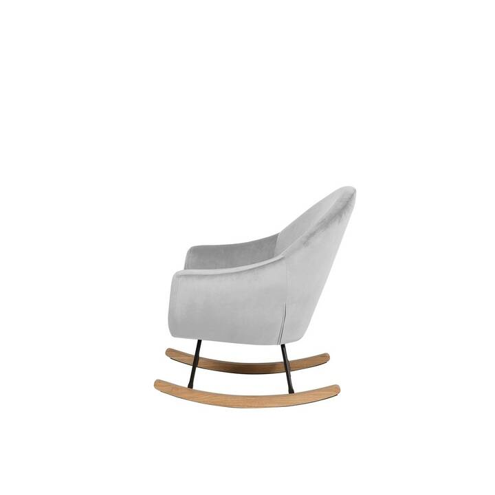 beliani fauteuil a bascule oxie moderne scandinave
